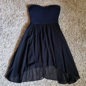 This High Low Strapless Dress Sparkles!!